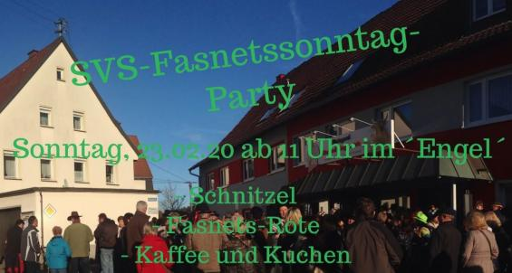 SVS-FASNETSSONNTAG-PARTY